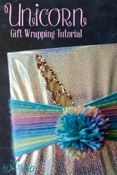 Quick And Easy Unicorn Themed Gift Wrapping Tutorial Using
