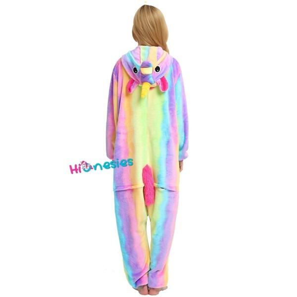 Rainbow Unicorn Onesie Unisex Women & Men Animal Pajamas Kigurumi