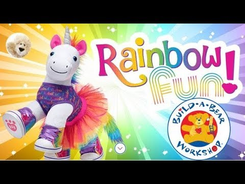 Rainbow Unicorn Stuffing Video At Build A Bear Workshop Shopping