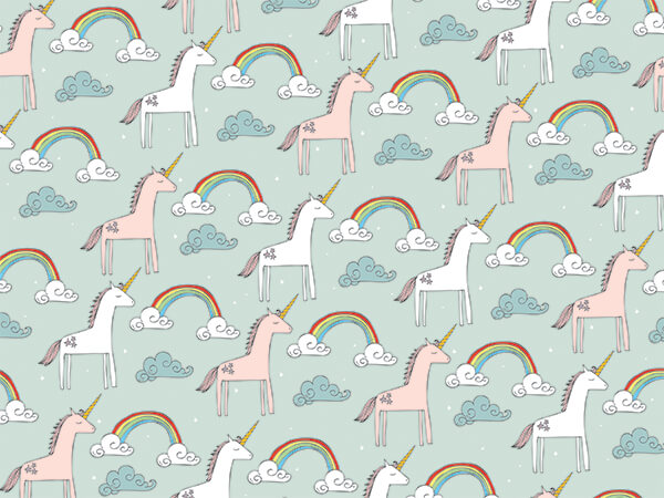 Rainbows And Unicorns, 30 X25' Wrapping Paper Roll