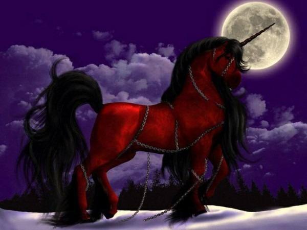 Red & Black Unicorn