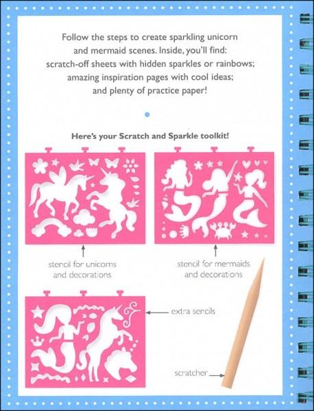 Scratch And Sparkle Unicorns And Mermaids Stencil Art