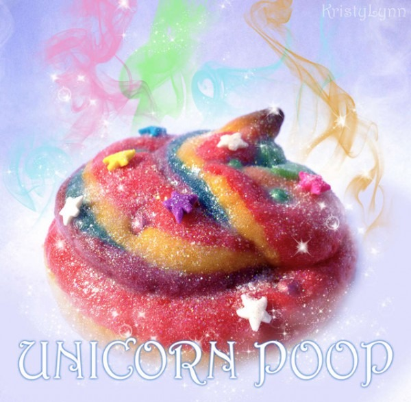 Sparkly Rainbow Unicorn Poop Cookies