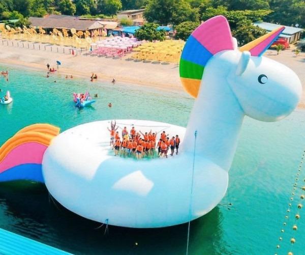 The Giant Unicorn Float Party
