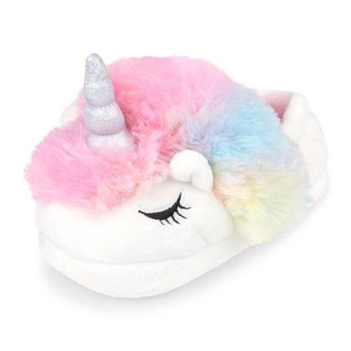 Toddler Girls Faux Fur Unicorn Slipper