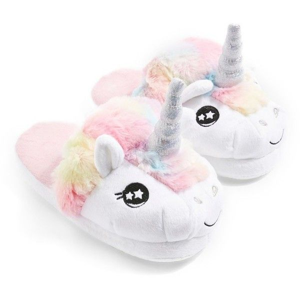 Topshop Mya Unicorn Slippers (645 Czk) ❤ Liked On Polyvore