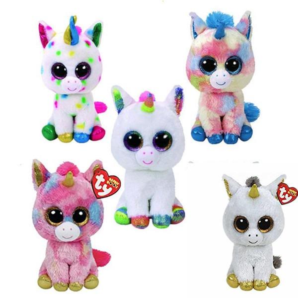 Ty Beanie Boos Collection 17cm Unicorn Plush Toys 6inch Soft