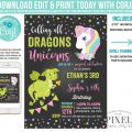 Unicorn And Dragon Party