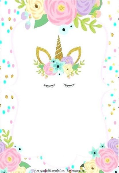 Unicorn Birthday Invitations With Printable Birthday Invitation