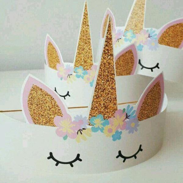 Unicorn Birthday Paper Crowns