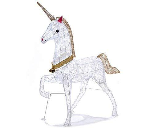 Unicorn Christmas Decoration Outdoor Yard Holiday 40  Tall