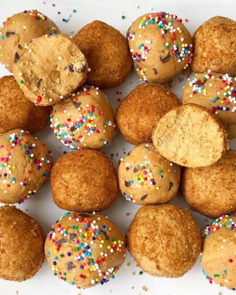 Unicorn Cookie Dough & Snickerdoodle Protein Balls