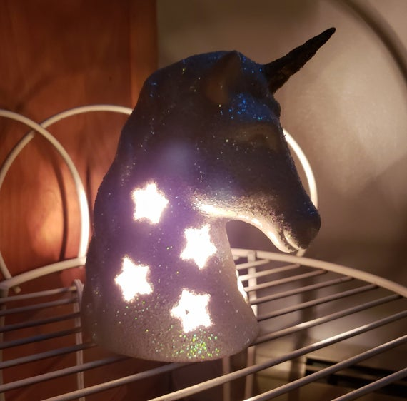 Unicorn Nightlight  Unicorn Lamp  Unicorn Head   Unicorn Head