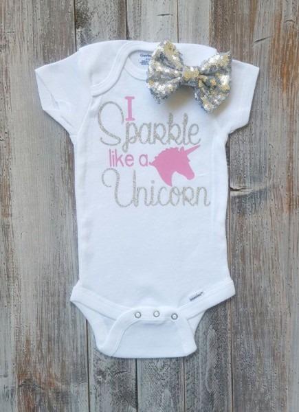 Unicorn Onesie Baby Girl Clothes Onesie Baby Girl Baby