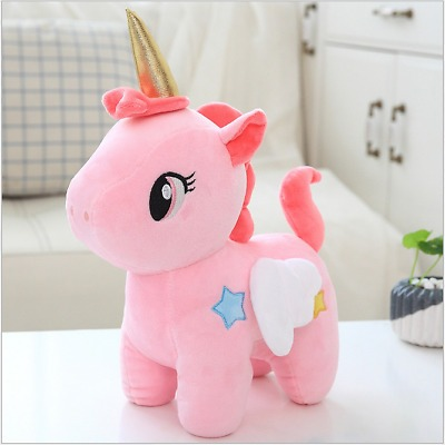 Unicorn Plush Toy Doll Cute Animal Stuffed Soft Pillow Baby Girl
