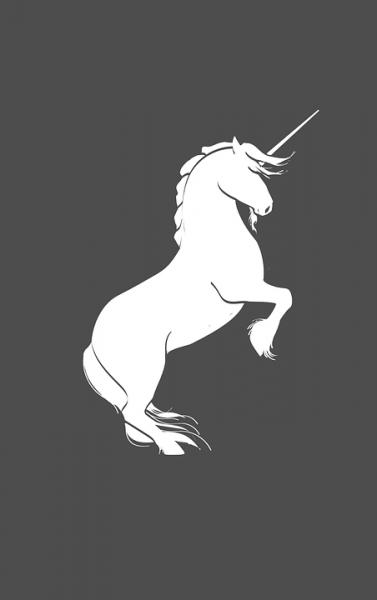 Unicorn Silhouette Rearing