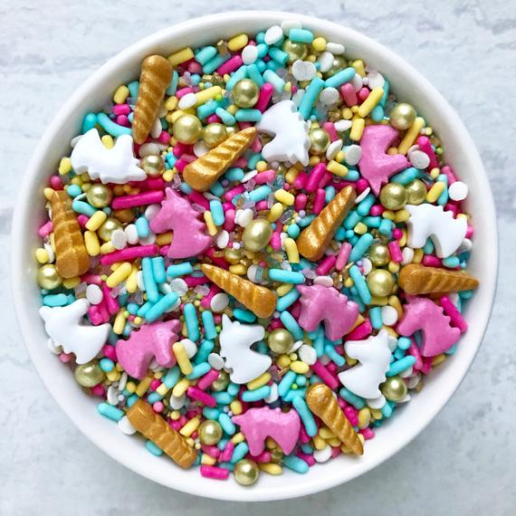 Unicorn Sprinkle Mix Edible Sprinkles Cake Sprinkles