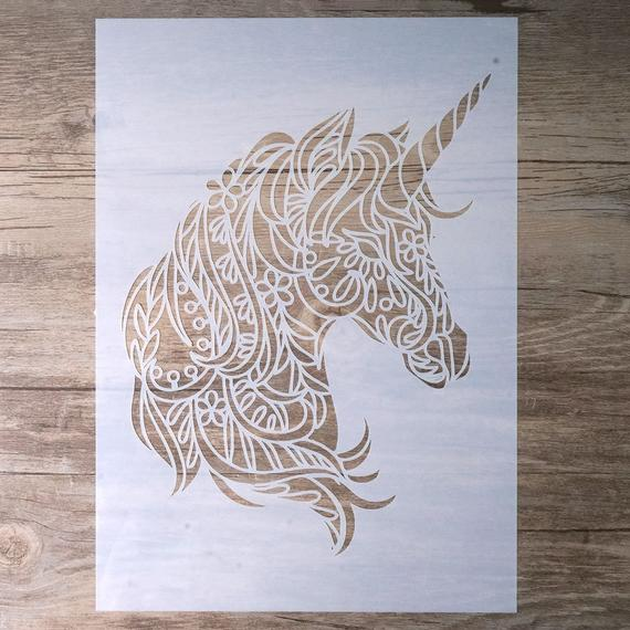 Unicorn Stencil For Wall Painting Painting Stencil Wall