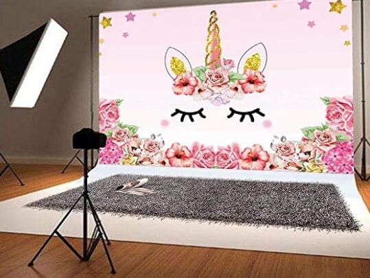 Unicorn Theme Birthday Party Backdrop