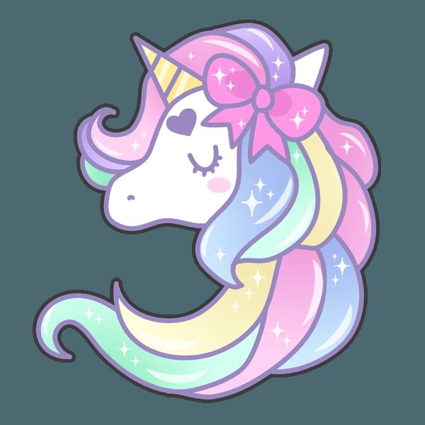 Unicorn Watercolor Painting Clip Art