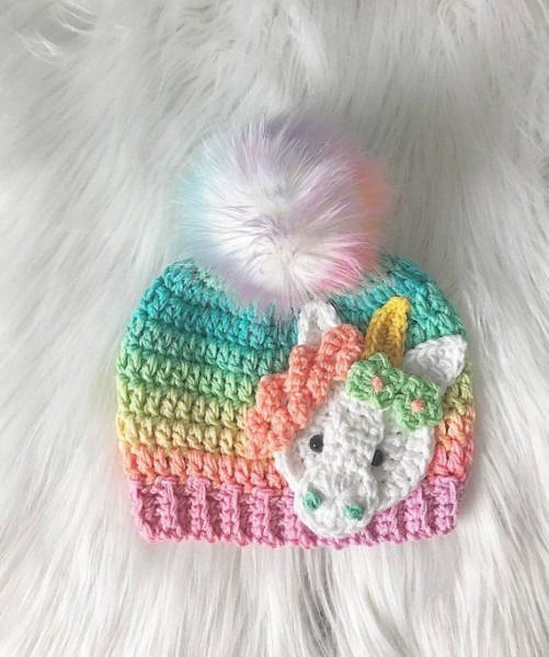 We Love This Super Cute Sparkly Unicorn Hat!!!! Hand Made, With