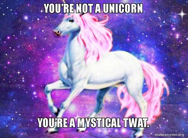 You're Not A Unicorn You're A Mystical Twat