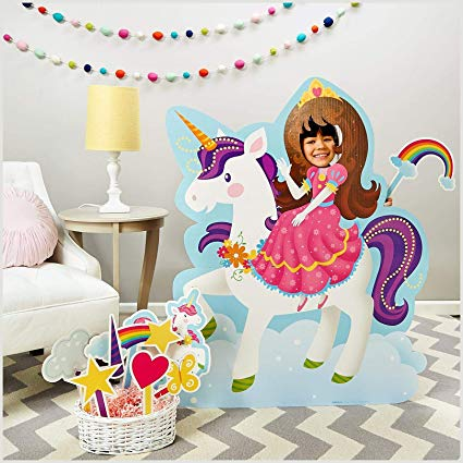 Amazon Com  Adva5700 Rainbow Unicorn Princess Room Decorations