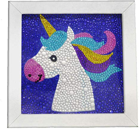 Amazon Com  Diy 5d Diamond Painting Kit Unicorn Crafts Kits