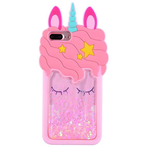 Amazon Com  Iphone 6 Plus,6s Plus Quicksand Liquid Unicorn Case