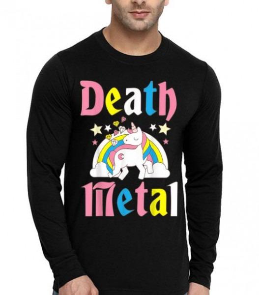 Death Metal Unicorn Cute Rock Music Lover Band Shirt, Hoodie