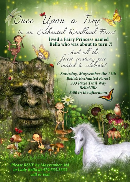 Enchanted Unicorn Invitations