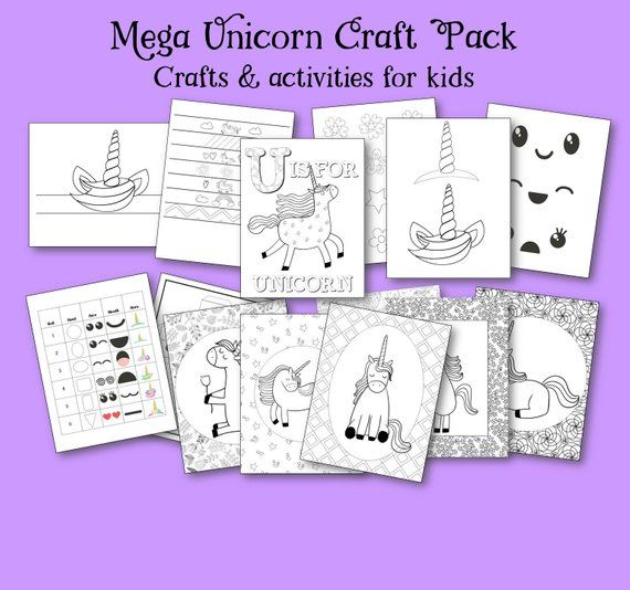 Unicorn Printable Activity Pack, Unicorn Party Pack, Party Games