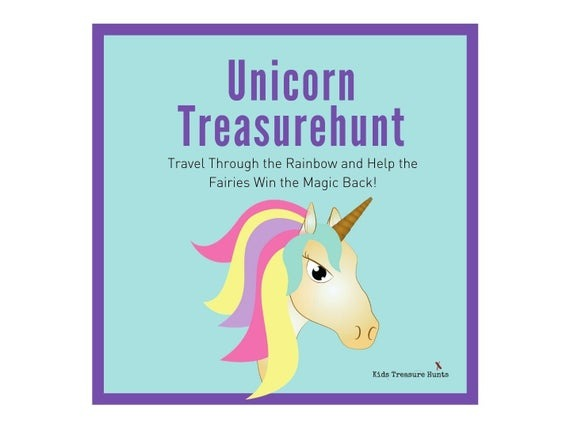 Unicorn Treasure Hunt   Unicorn Scavenger Hunt The Lost